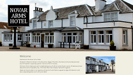 Web Design Example - Novar Arms Hotel Accommodation